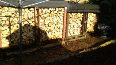 Making Log Stores out of Shiping Pallets