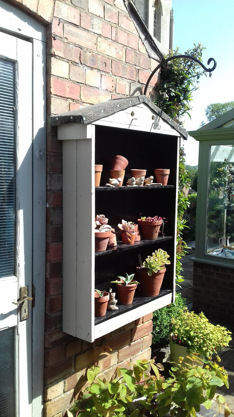 Auricula Theatre Built with Pallet Wood in place