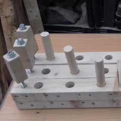 wood gluing clamps made from pallet wood
