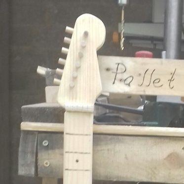 Pallet Wood Guitar and Spitfire Clock Update 25 August 2019