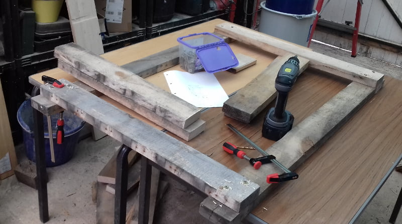 Power Tool Workbench made from Upcycled pallet Wood