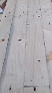 two new pallet wood clocks started