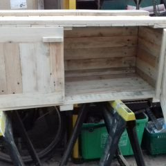 Pallet Under Bench Storage Cupboard on Castors