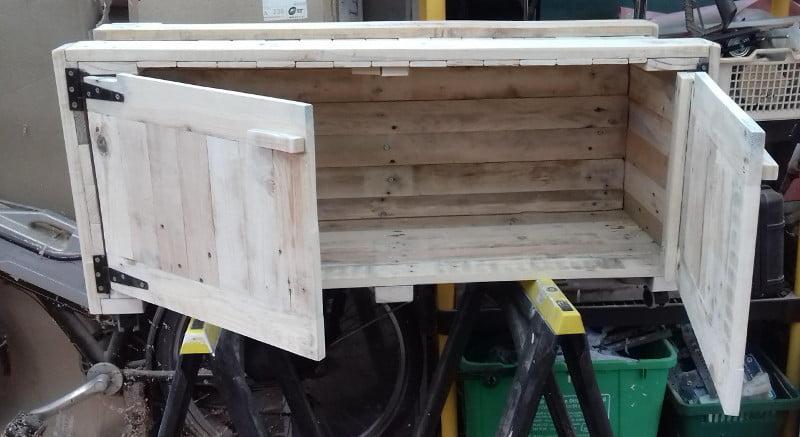 Pallet Under Bench Storage Cupboard on Castors