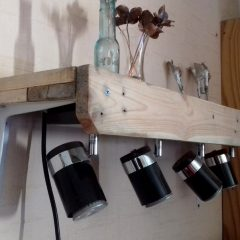 Workbench Lighting Surrounds using Pallet Wood