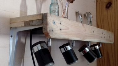 Workbench Lighting Surrounds using Pallet Wood