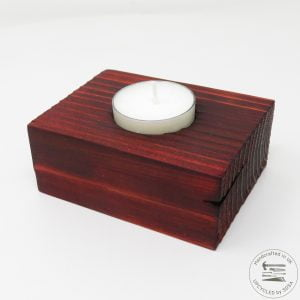 Single Tealight Holder - Deep Orange