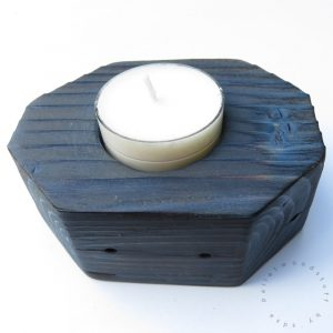Single Tealight Holder Blue