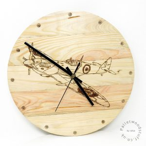 Pallet Wood Clock SPITFIRE | Handmade to Order