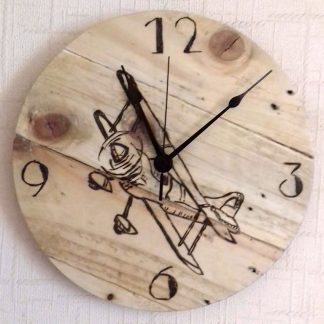 Pallet Wood Clock BI-PLANE