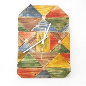 Colourful Block Clock