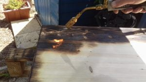 Burning the Pallet Wood Occasional Table