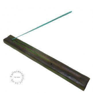 Reclaimed Wood Incense Burner 01 | Forest Green