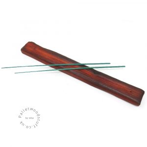 Reclaimed Wood Incense Burner 04 | Burnt Orange
