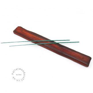 Reclaimed Wood Incense Burner 04 | Burnt Orange