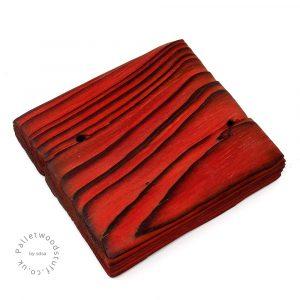 Pallet Wood Coaster 06 | Shou Sugi Ban | Flame