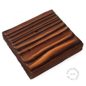 Pallet Wood Coaster 07 | Shou Sugi Ban | Earth