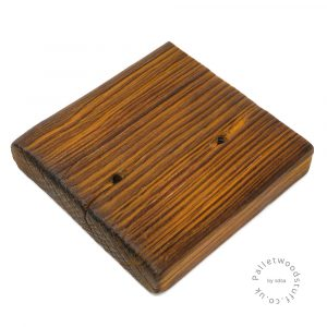 Pallet Wood Coaster 09 | Shou Sugi Ban | Honey
