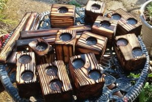 Palletwood Block Tealight Holders - after cleaning