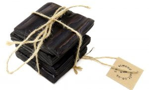 Pallet Wood Coaster 12 | Shou Sugi Ban | Black