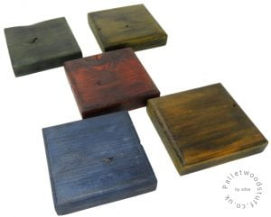 Dyed Palletwood Coaster