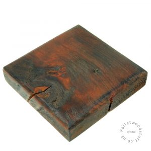 Dyed Palletwood Coaster 03 | Burnt Orange