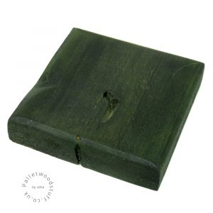 Dyed Palletwood Coaster 04 | Forest Green