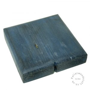 Dyed Palletwood Coaster 05 | Sky Blue