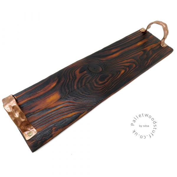 Colourful Shou Sugi Ban Tray HONEY 01