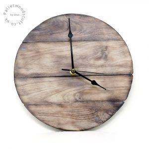 Burnt Wood Wall Clock | SAND DUNES