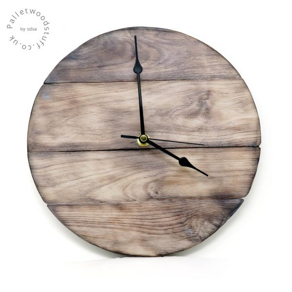 Burnt Wood Wall Clock | SAND DUNES