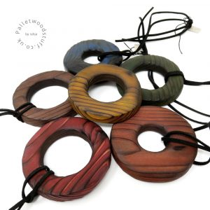 Rustic Palletwood Pendants - Various Colours