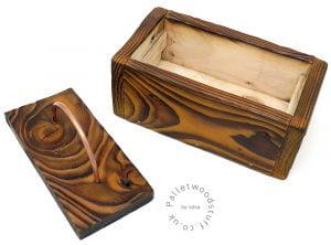 Small Shou Sugi Ban Box Honey 01 | Copper Handle