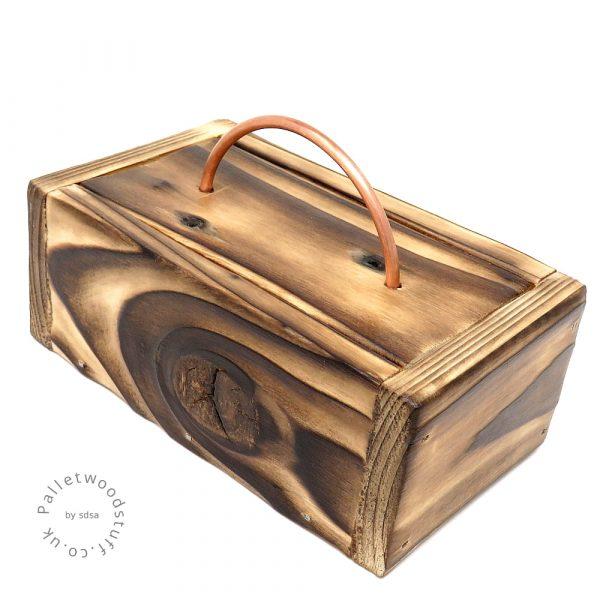 Small Shou Sugi Ban Box NATURAL 01 | Copper Handle