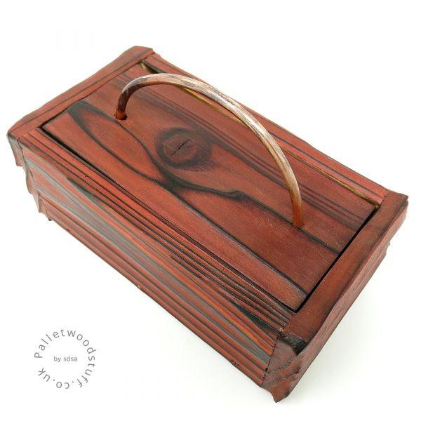 Small Shou Sugi Ban Box Flame 01   Copper Handle