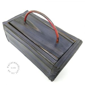 Small Shou Sugi Ban Box Midnight Blue 01 | Copper Handle