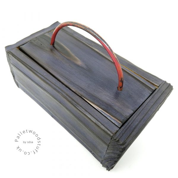 Small Shou Sugi Ban Box Midnight Blue 01 | Copper Handle