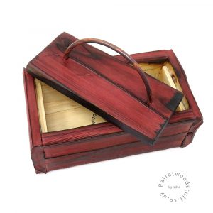 Small Shou Sugi Ban Box Ruby 01 | Copper Handle