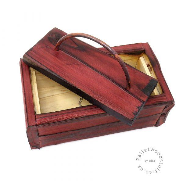 Small Shou Sugi Ban Box Ruby 01 | Copper Handle