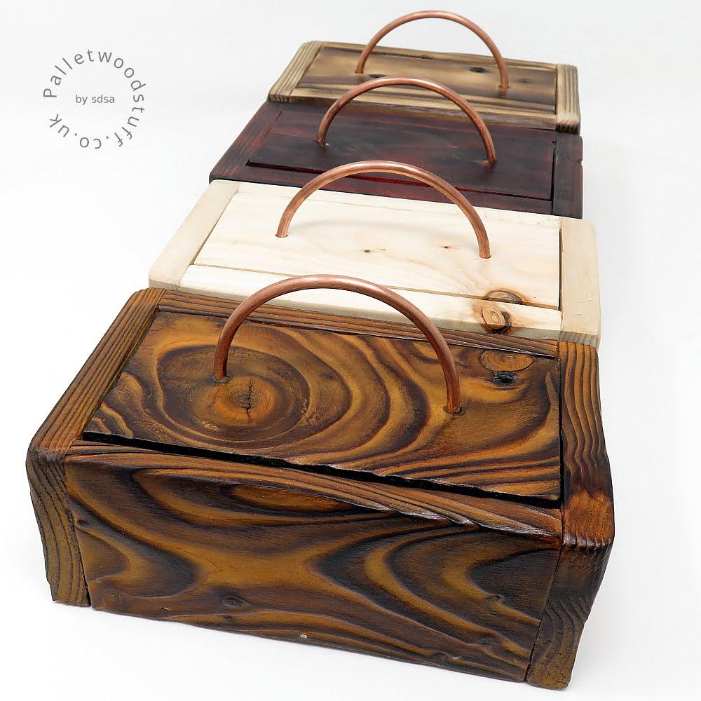 Pallet Wood Stuff Boxes